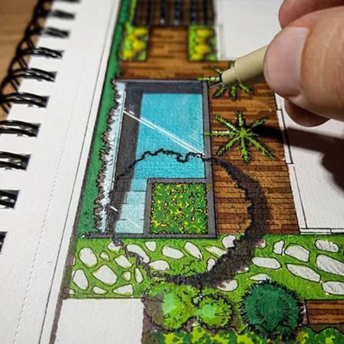 curso de desenho ilustração arquitetônica por Marcelo Marttins