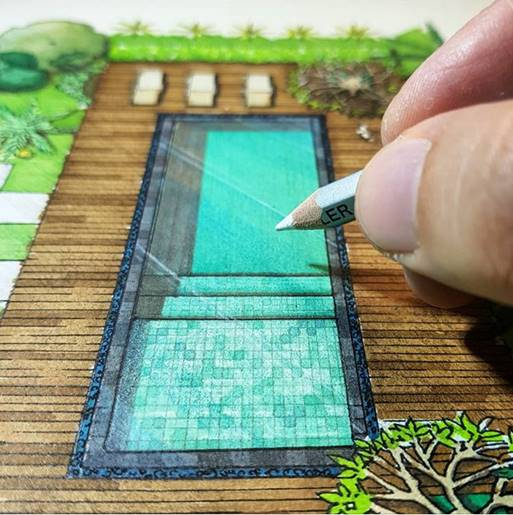 Ilustração arquitetônica paisagismo curso completo online por Marcelo Marttins